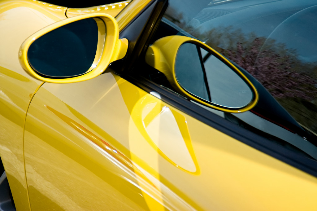yellow sportscar