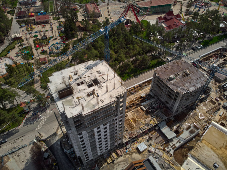 residential building being constructed