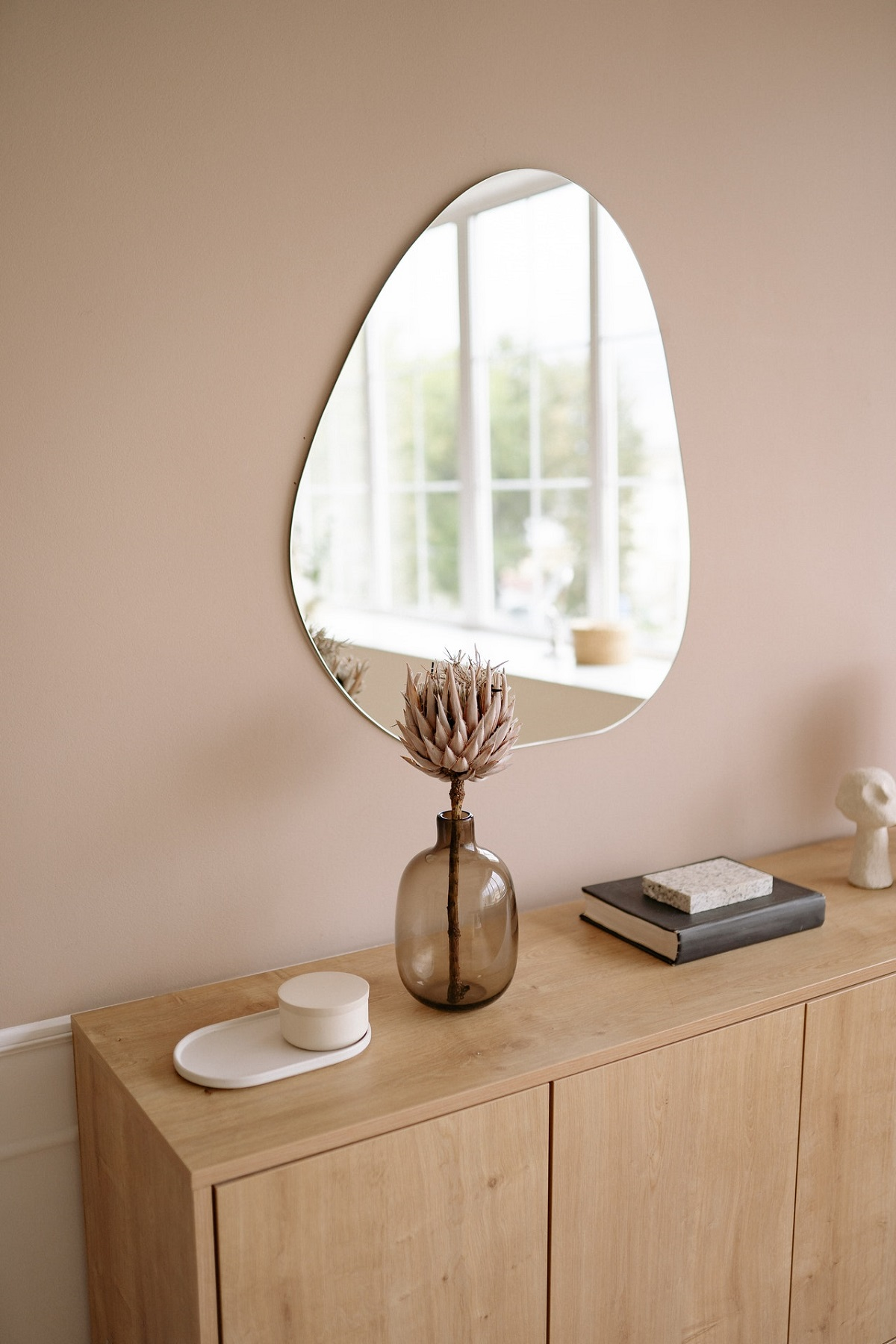 mirror hanging on a wall